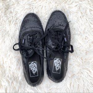 Vans Black Sequin Sneakers